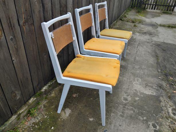 Krzesła PRL typ JAR do pomalowania i tapicerowania