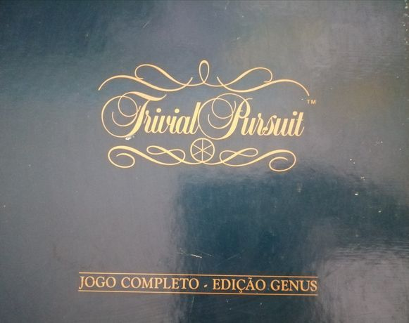 Jogo de mesa, trivial pursuit, edição Genus, jogo completo