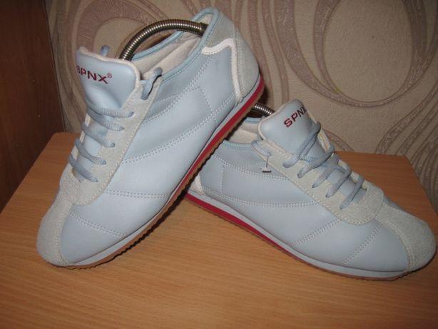 Продам натуральные кожа+замш спортивные туфли фирмы SPNX 39 размера