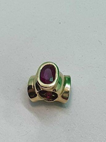 Pandora Bonsai z rubinami 14k,  585 złoto