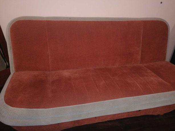 Kanapa z pufami sofa łóżko rozkładana
