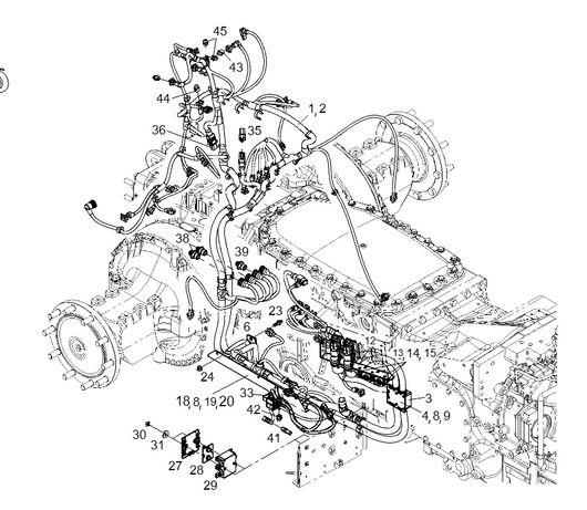 Wiązka elektryczna od skrzyni i hydrauliki Fendt serii 900 Deutz