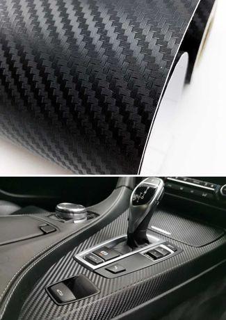 Folia samochodowa carbon czarna 3D, szer. 152cm