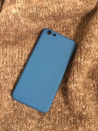 Чехол на айфон iphone 6s plus цвет синий