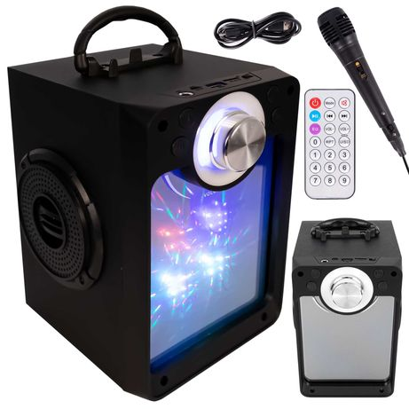 GŁOŚNIK bluetooth KOLUMNA KARAOKE + mikrofon 100W