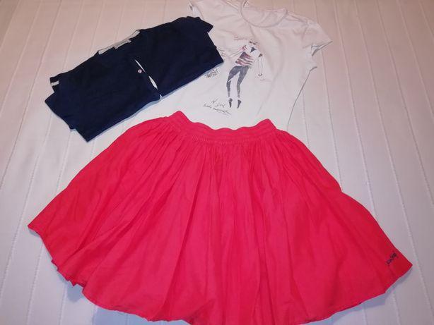 Conjunto de menina JEAN BOURGET, Saia rodada, t-shirt e casaco