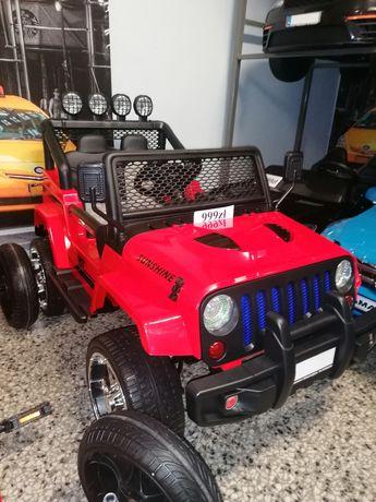 Duży jeep na akumulator 4x4 skóra eva Bluetooth