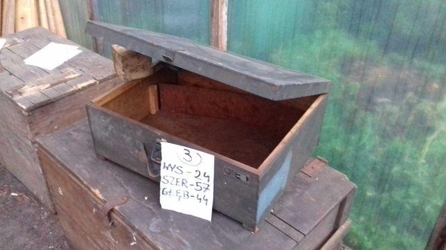 Skrzynia drewniana stare skrzynie 5 sztuk PAB utrzymanie ruchu