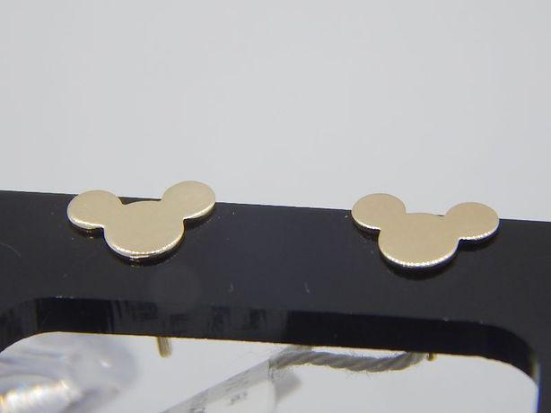 złote kolczyki Myszka Miki pr 585 (14) waga 0,8 g na sztyft
