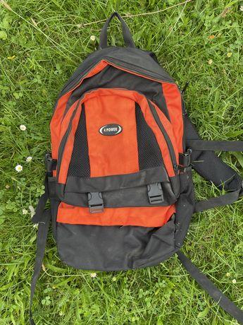 Plecak szkolny czarnopomarańczowy