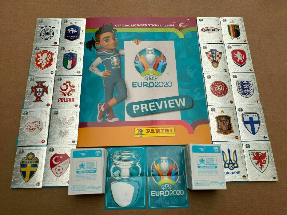 UEFA EURO 2020 PREVIEW da Panini-Coleção completa