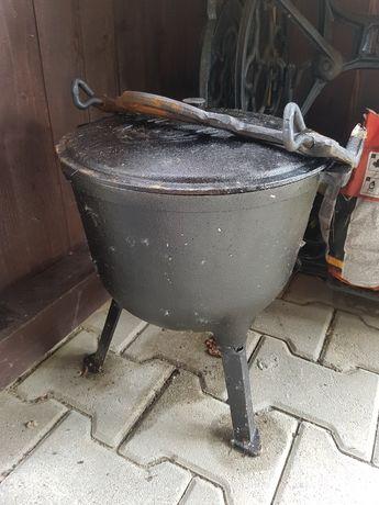 Kociołek żeliwny na ognisko 10l na prażone garnek myśliwski