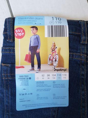 Jeansy chłopięce rozmiar 110