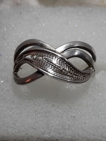 Stary,srebrny pierścionek Imago Artis