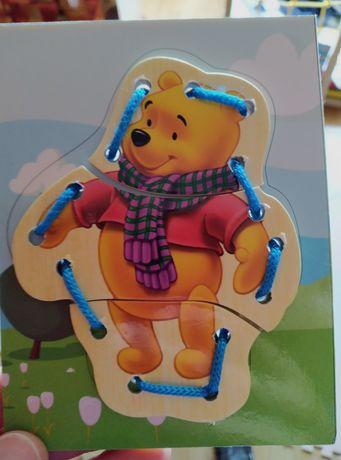 Шнурівка ведмідь вінні-пух розвиваюча гра 1-3 роки