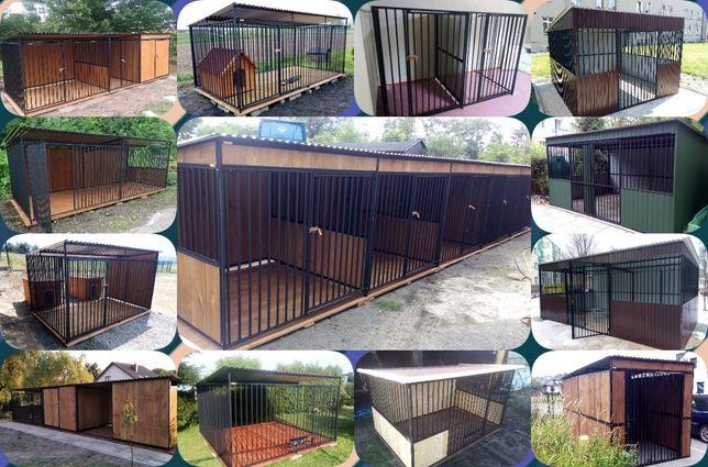 Stalowoe i stalowo-drewniane zabudowy. Kojec dla psa ,Wiata , Schowek