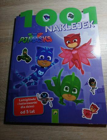 Książka 1001 naklejek, łamigłówki i kolorowanki Mj Masks 5+