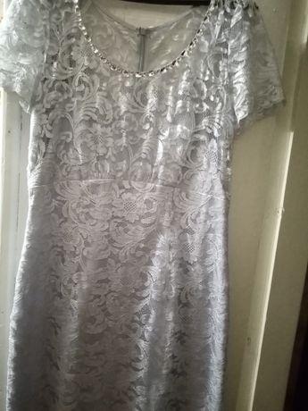 Продам шикарное кружевное платье 12 европейского размера