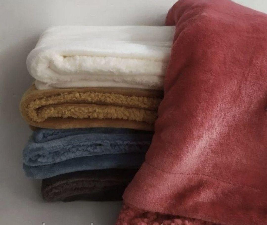 Детский двухсторонний плед одеяло