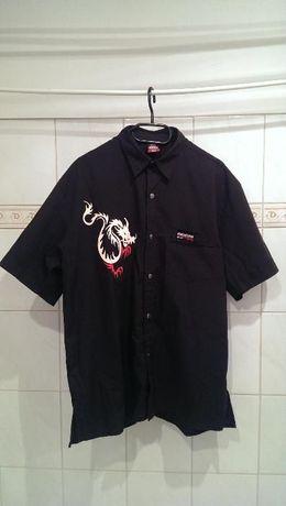 Koszula męska MENTOR - czarna (skateshop)