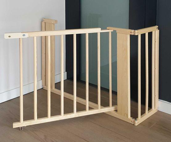 BRAMKA OCHRONNA barierka zabezpieczająca przejście schody do 117 cm