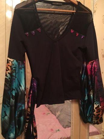 Блуза шикарная рукава натуральный шёлк