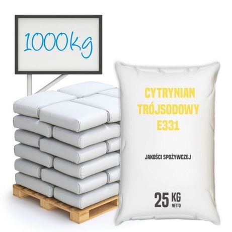 Cytrynian trójsodowy spożywczy E331 ; 1000 kg