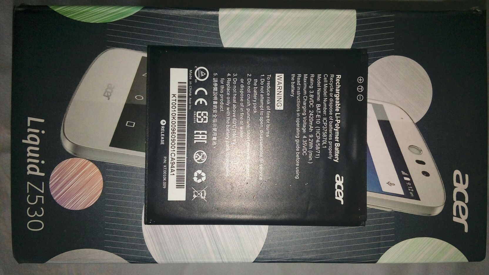 Bateria orginalna do  telefonu Acer Liguid Z530
