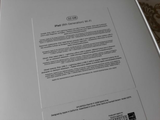 iPad 8 gen - stan idealny - 1 właśc. gwarancja dowód zakupu