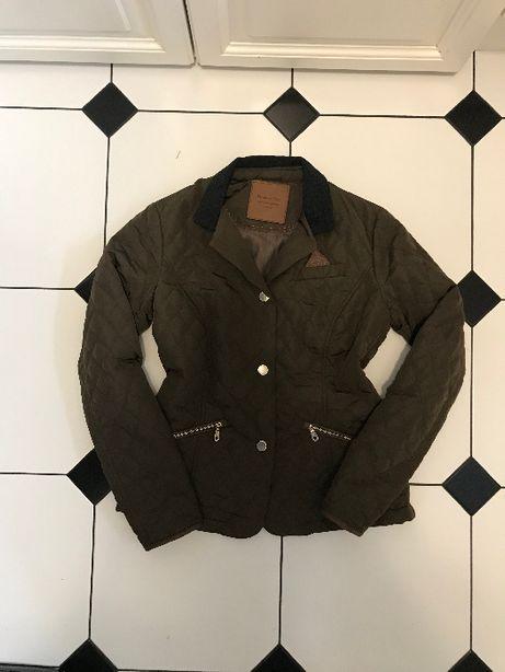 Massimo Dutti kurtka marynarka pikowana S 36 j. nowa zieleń brąz khaki