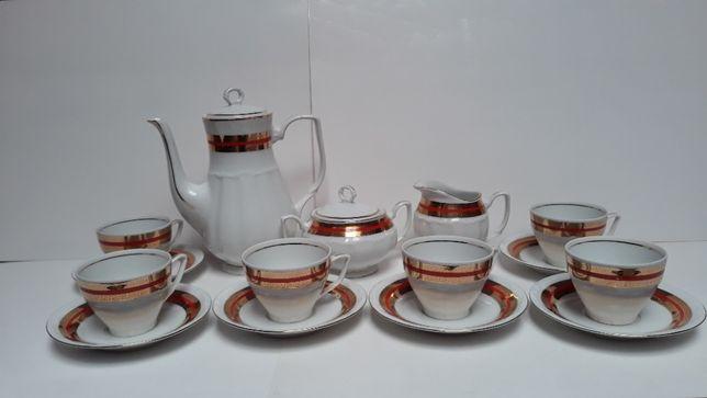 """Kompletny serwis kawowy """"BOGUCICE"""" – Porcelana – PRL."""