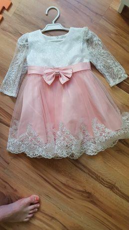 Sukienka koronkowa dla dziewczynki na chrzest/roczek