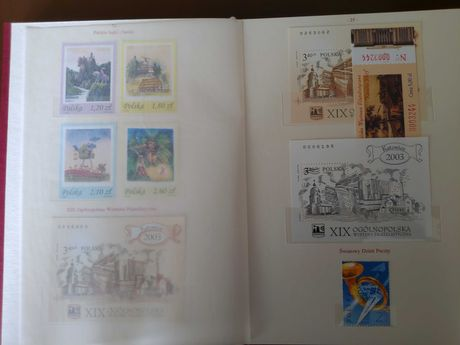 Klaser tom XXIV 2002/2003 znaczki Fischer