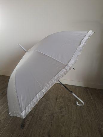 Parasol ślubny biały 2 sztuki