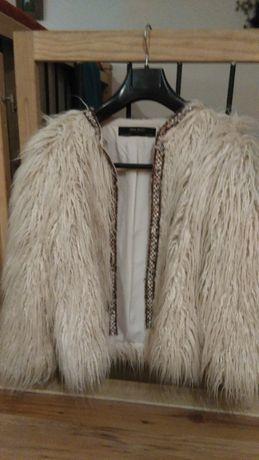 Nowy płaszcz, futro futerko kurtka, miś, żakiet Zara roz. M.