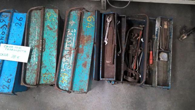 Caixas de ferramenta vendidas como se encontram