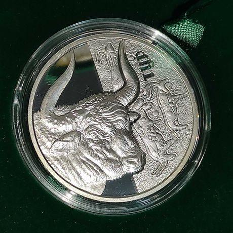 Памятная монета Тур серебро 5 гривен 2017 16,94 грамма 925 пробы нбу