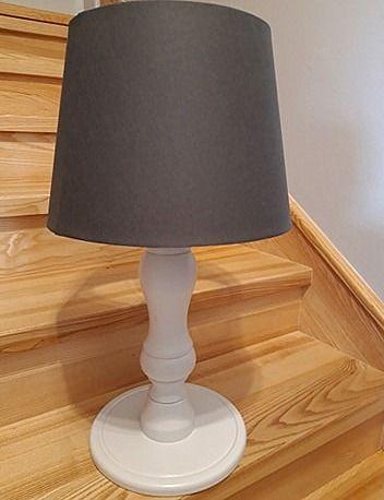 Stylowa lampa stołowa, drewniana. Lampa na komodę. Duża i ładna!!!