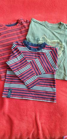 Bluzeczki kolorowe r.86-92