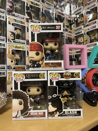 Funko Pop! Rocks Brian May, Slash, Bret Michaels