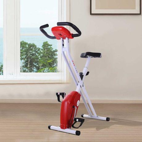 Rower kompaktowy NOWY Rowerek stacjonarny Składany treningowy czerwony
