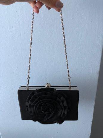 Kopertówka torebka czarna