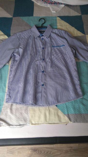 koszula chłopięca w kratkę roz.158