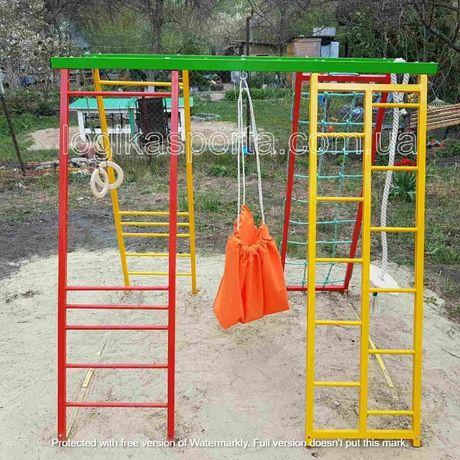Игровая детская площадка, мат, качели, горка, комплекс спортивный