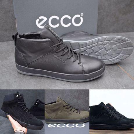 Зимові кроссовки Ecco натуральна Кожа! Шкіра! Нубук! Хутро! Еко Puma