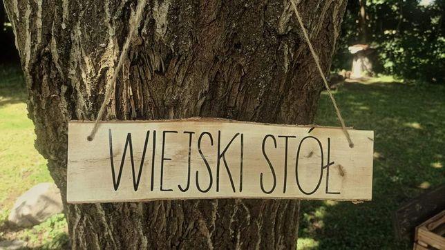 Napisy na wesele styl rustykalny