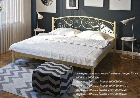 Металлическая кровать ЛИЛИЯ МАРАНТА ВЕРОНА Размеры Бесплатная доставка