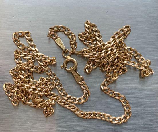 Łańcuszek złoty próba 585 tanio