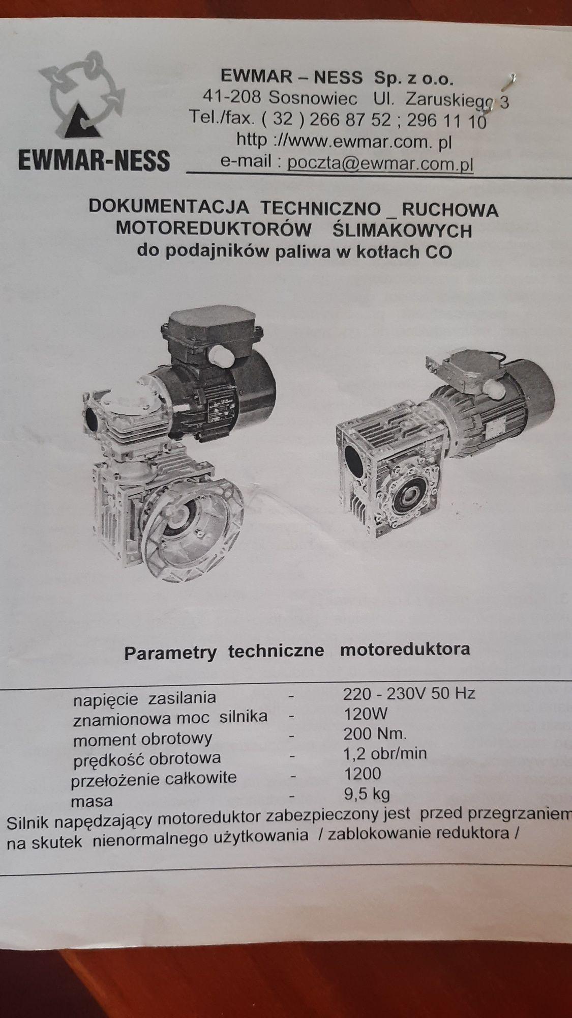 Motoreduktor ślimakowy