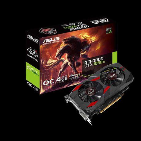 Видеокарта Asus GeForce GTX 1050 Ti 4GB GDDR5 Cerberus OC